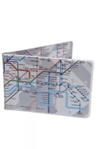 Tube Map Oyster Card Travel ID Wallet London Underground Cardholder