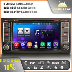4GB RAM DSP CarPlay Android 10.0 Car Stereo Head Unit for VW Touareg T5 Multivan