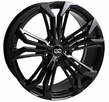 18x8 Enkei Rims VORTEX5 5x114.3 +38 Black Rims Fits Veloster Mazda Speed 3