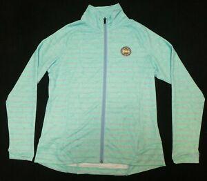 Peter Millar women's green/lilac/white print fitness/workout golf jacket Sz L