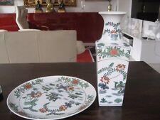Chinesische Porzellan Vase und Porzellan Teller