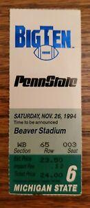 Penn State Michigan State Football Ticket Stub 11/26 1994 RB Ki-Jana Carter 5 TD