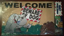 New Big Mouth Toys Beware of The Dog Wacky Welcome Doormat sealed funny greeting