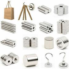 1-500pcs N52/N50/N35 Strong Magnets Rare Earth Neodymium Round Block Hook Magnet