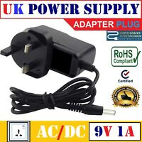 NINTENDO NES Compatible Power Supply Adapter Charger UK Mains Plug 9V AC DC NEW