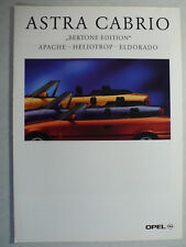 Prospekt Opel Astra Cabrio Bertone Ed. Apache Heliotrop Eldorado 2.1995,4 Seiten