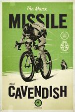 More details for mark cavendish reproduction printed poster a2 a3 a4 bar cave art tour de france