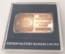 Johnson Matthey Bankers Limited 1 oz Bar 999 Fine Silver Jubilee Bullion w/ Case