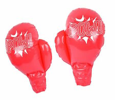 ** INFLATABLE POW BOXING GLOVES 39CM NEW ** FANCY DRESS PARTY PROP