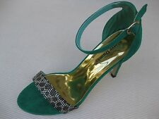Pierre Dumas Womens Shoes NEW $45 Reina Turquoise Ankle Strap Sandal 8.5 M