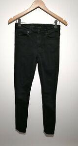 COS 27W Black Skinny Fit Jeans Denim Cotton Blend