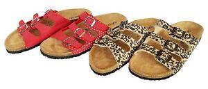Damen Tieffußbett Pantoletten Comfort Sandalen