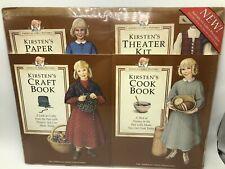 American Girls Kirsten Pastimes Cookbook Craft Book Paper Dolls Theater Kit