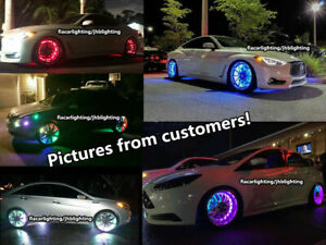 """15.5"""" IP68 Double Row Chasing  LED Wheel Rings Lights with Multi-function Wiring"""