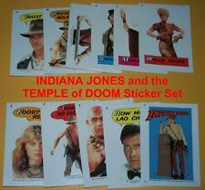 INDIANA JONES and the TEMPLE of DOOM Complete Sticker Set  - Harrison Ford