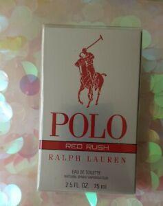 RALPH LAUREN POLO RED RUSH FOR MEN 75ML EAU DE TOILETTE SPRAY NEW & SEALED