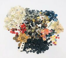 Vintage Button Lot MIXED Old Estate 900+ Buttons Sewing Craft Lot Approx. 1.5 lb
