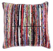 "24"" Multi Chindi Rag Rug Decorative Sofa Throw Pillow Cushion Cover Indian Boho"