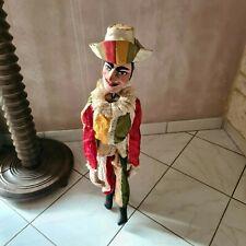 🔅 Grande ancienne marionnette en bois à fil hauteur 71 cm