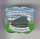 RARE PINS PIN'S .. TRAIN RAILWAYS SNCF CAISSE RETRAITE ERMONT LA PLAINE 95 ~DH
