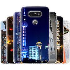 dessana China Metropole TPU Silikon Schutz Hülle Case Handy Tasche Cover für LG