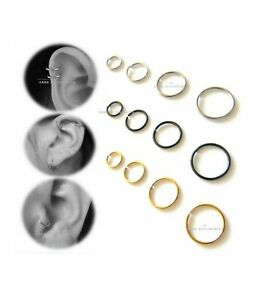 Men's Women Fake Cheater Helix Cartilage Ear Ring Cuff , Non Piercing Stud Hoop