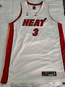 Nike Authentic DriFit Miami Heat Vintage Rookie Dwyane Wade Jersey sz 52 2XL XXL