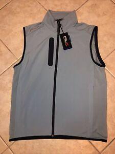 Ralph Lauren RLX Sand Hollow Full Zip Golf Performance Vest XL Blue NWT $168