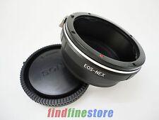 Canon EOS EF Lens to Sony E NEX 3 NEX 7 5C 5R a7S a7R a5000 a6000 adapter + CAP