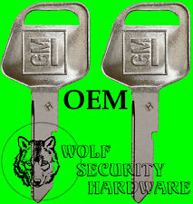 """Lot of Two (2) GM Logo OEM """"H"""" Key Blank with Large Bow / Head 321951"""