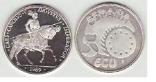 ESPAÑA: 5 ecu plata 1989 CARLOS V EN LA BATALLA DE MÜNHLBERG S/C