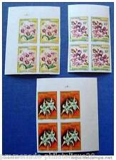 MADAGASCAR stamp-stamp Yvert and n Tellier°385 à 387 not serrated-block 4-n