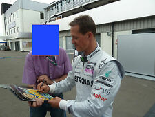 Michael Schumacher véritable main signé autographe 12x8 PHOTO FERRARI (3591)