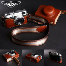 Genuine real Leather Full Camera Case bag Cover for FUJIFILM X100 X100S Brown