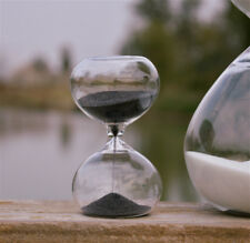 Black 60Min Sand Glass Sandglass Hourglass Timer Clock Time Decor Unique Gift