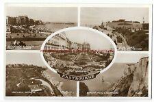 Sussex Eastbourne Multiview Real Photo Vintage Postcard 18.11