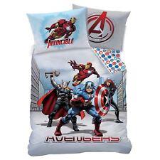 Marvel Avengers Ville Set Housse de Couette Simple Réversible Literie Enfant