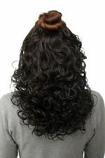 Toupet toupet Clip-In Extensions capelli Ricci Marrone scuro 40cm H9312-4