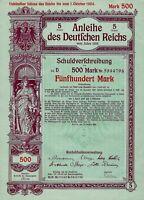 5% Anleihe des Deutschen Reichs Schuldverschr. 1916 (500 Mark)