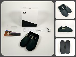MAHABIS CLASSIC LUXE Karlstad Noir Slippers & Skien Black Soles   UK4 US6.5 EU37