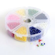 Round Glass Seed Beads Mixed Color 3mm Loose Spacer Jewelry Findings Hole 1mm