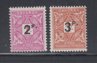 Dahomey 1927 Surchaged Postage Due Sc J17-J18 Cplte Mint Hinged