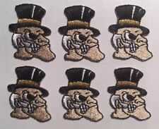 """Wake forest patch embroidered Iron-on logo patch 1 1/8"""" tall (6 pc. lot)"""