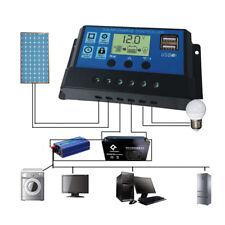 10A/20A/30A 12V/24V LCD Batería Solar Panel Regulador de Carga Auto Controlador