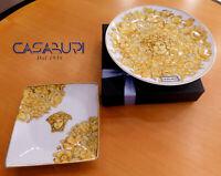 Versace Rosenthal Medusa Rhapsody Set Plate 17 cm +Square Bowl 12 x 12 cm