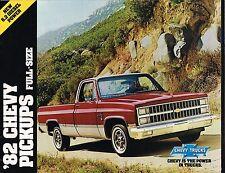 1982 Chevy PICKUP TRUCK's Brochure:C10,C20,C30,K10,K20,K30,DOOLEY,4WD,Diesel,