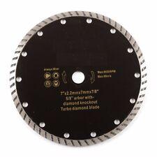 "7"" Turbo Diamond Tile Saw Blade Concrete Masonry Wet Dry 5/8"" 7/8"" NEW"