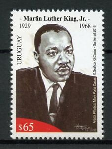 Uruguay 2018 MNH Martin Luther King Jr 1v Set Historical Figures People Stamps