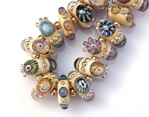 FRISKEY handmade Lampwork Glass Beads,  MURRINI JEWELS !!!