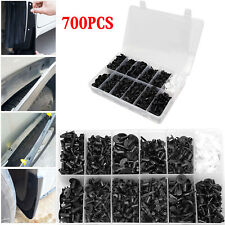 700Pcs Plastic Car Door Trim Clip Bumper Rivets Screws Panel Push Fastener Kit